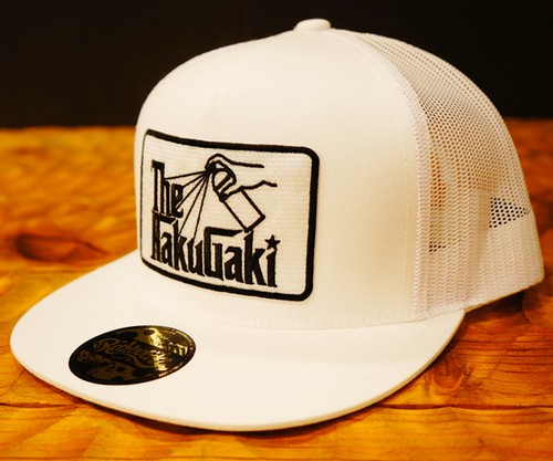 2018 The RAKUGAKI Father Trucker Cap White x Black