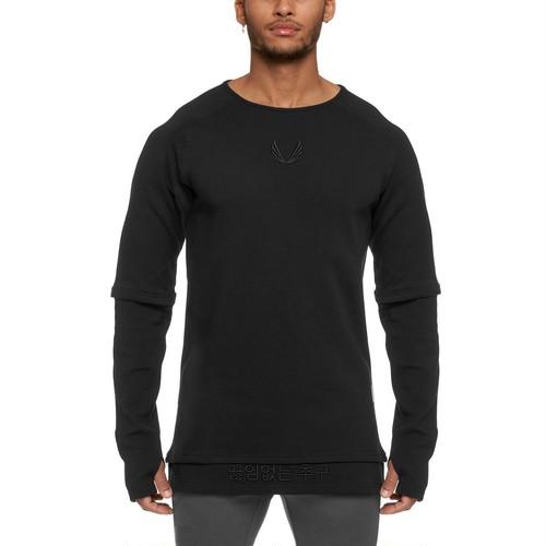 【ASRV】CottonPlus™レイヤードロングシャツ- Black
