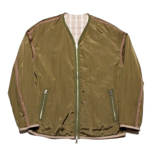Reversible Light Blouson -olive <LSD-AI1B4>