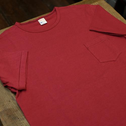 Workers(ワーカーズ) ポケットTシャツ クルーネック バーガンディー