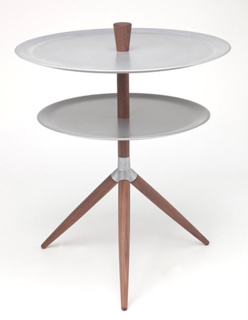 サイドテーブル HK+01(2段ウォールナット)