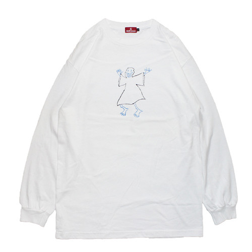 【HELLRAZOR】Hellrazor x Shawn Powers Ghost L/S Shirts(WHITE)