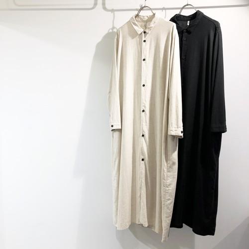 FIRMUM 【フィルマム】 RAYON & LINEN CANVAS LONG SHIRT