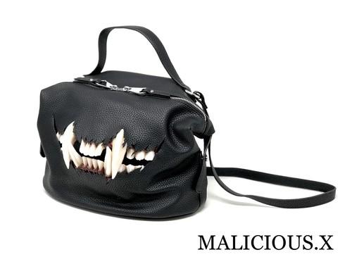 cat fang shoulder & handbag /black