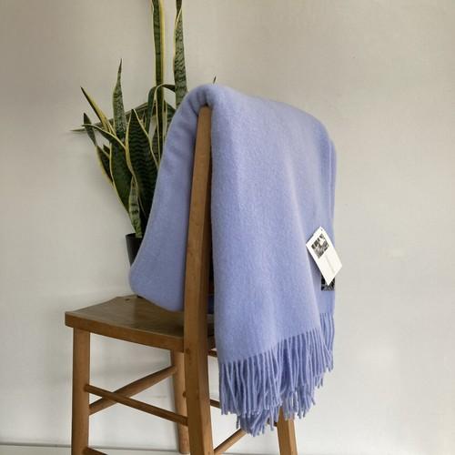 ウールブランケット シルケボー リトアニア製 大判 ひざ掛け 毛布 ライトブルー