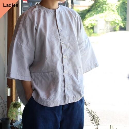 HARVESTY ハーベスティ Short Sleeves Atelier Shirt 半袖アトリエシャツ ライトグレー A32005
