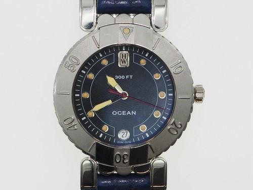 ハリーウィンストンオーシャン腕時計純正品プラチナ900製 限定品定価510万円