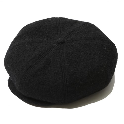 WOOL CASQUETTE (BLACK) / RUDE GALLERY