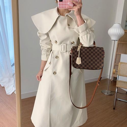 2色 simple ロングコート c1382