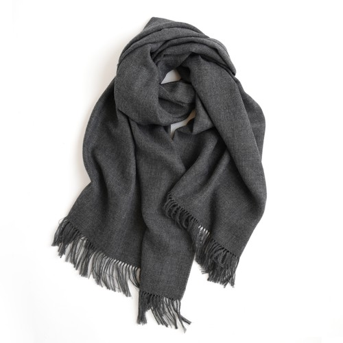 THE INOUE BROTHERS/Non Brushed Large Stole/Grey