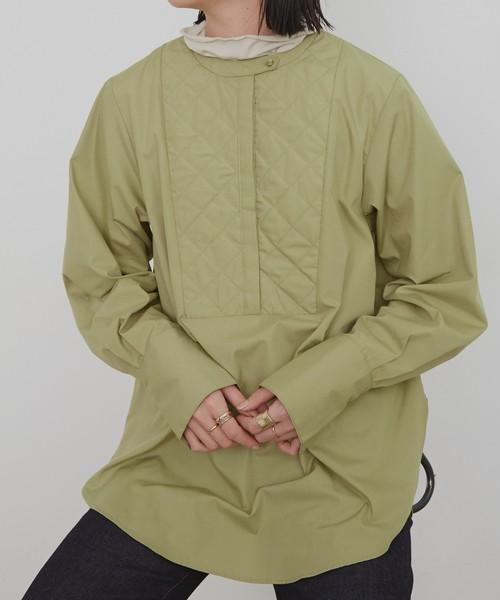 キルティングシャツ/LGRN