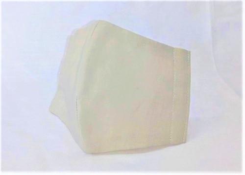 蒸れにくい綿100% 立体布マスク(無地・ライトグレー)大人用Mサイズ