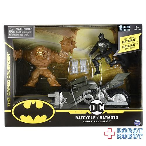 スピンマスター バットマン クリーチャーカオス  4インチフィギュア 3パック バットマン バットサイクル クレイフェイス