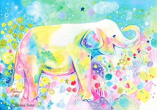 ゾウの歓喜〔ポストカード〕