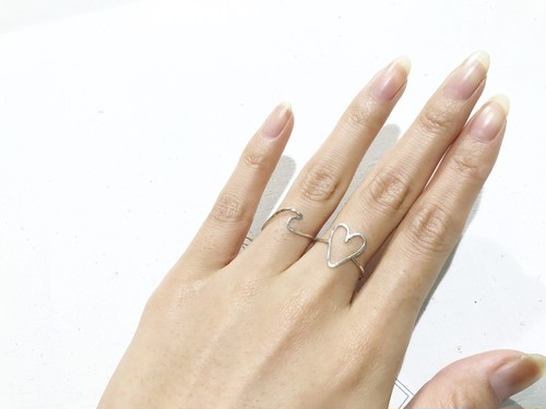 Wave・Heart ring(Silver950)