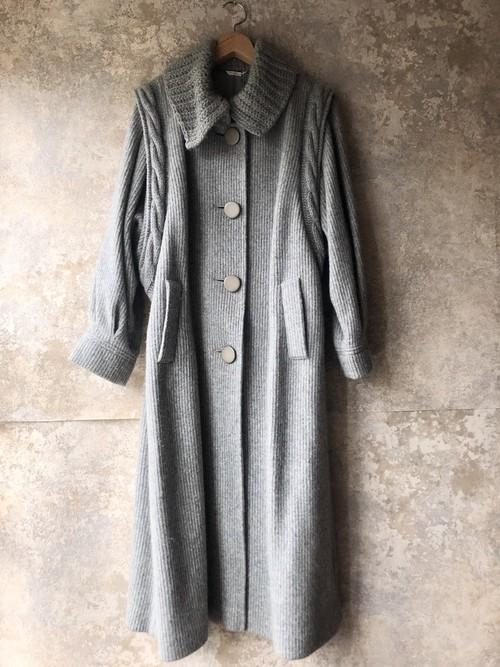 vintage angora&wool long knit coat
