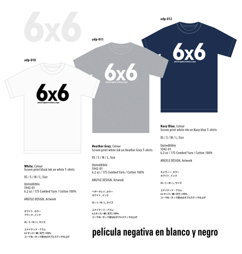 6×6  película negativa en blanco y negro, Tshirts