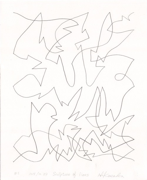 彦坂尚嘉『Sculpture of lines#1』オリジナル