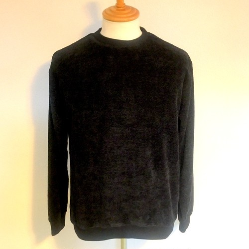 Mall Yarn Waffle Crew Neck Cut & Sewn Black