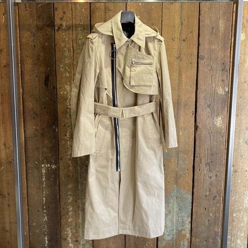 YUKI HASHIMOTO / DETACHABLE HOODED TRENCH COAT