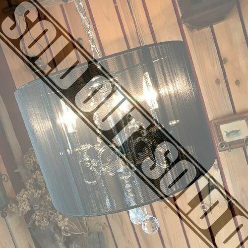 アンティークスタイル*おしゃれなクリスタルガラス姫系シャンデリア*ロココ調ペンダントライト3灯天井照明*ヨーロピアン中世*インテリア