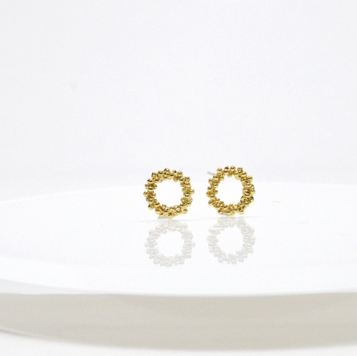 Bubble circle Pierce(gold)