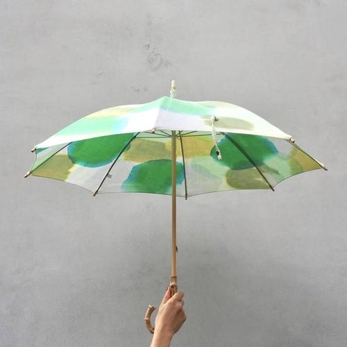 Parasol / 手染めの日傘・コットンパラソル / Green