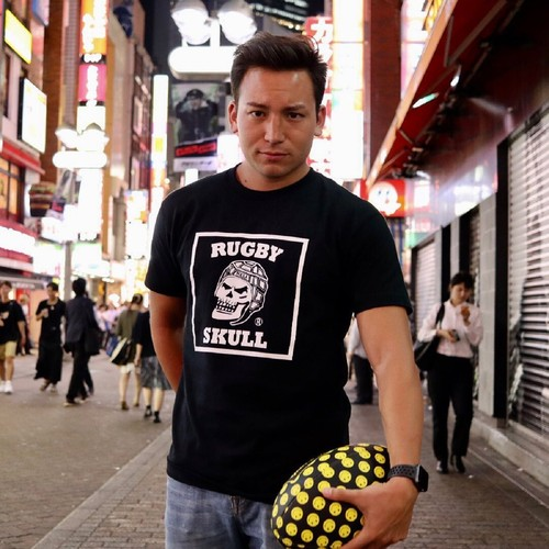 【YBC】RUGBY SKULL Big Logo T-Shirt Black