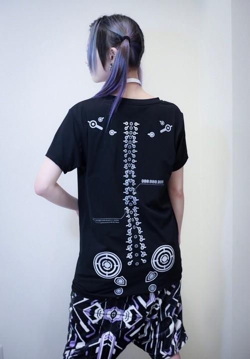 【ご予約受付中】   α(受注生産)* 背骨T-shirt 黒*