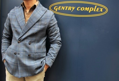 CIRCOLO 1901 Glen Check Jersey Double-breasted Jacket
