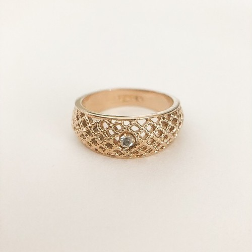 """AVON"" Lattice Lace ring #13[r-85]"