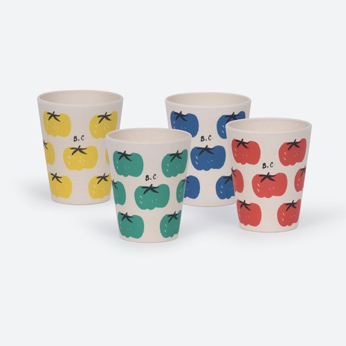 《BOBO CHOSES 2021SS》Tomatoes Pack Of Bamboo Glasses
