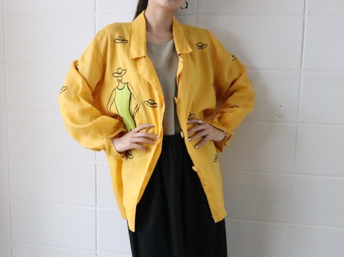 linen yellow jacket