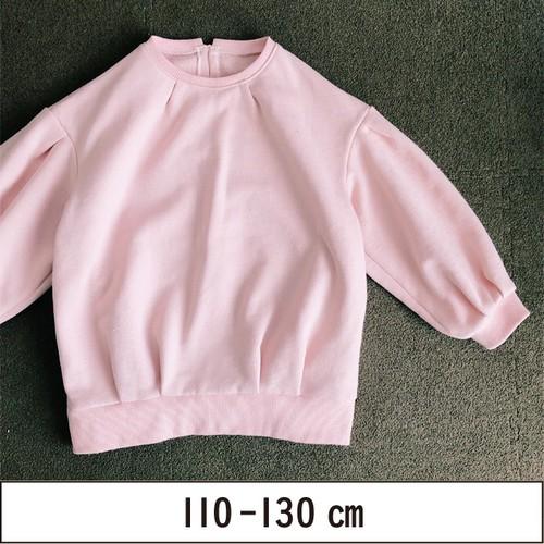 タックがかわいいオーバーサイズ長袖トップス 110-130
