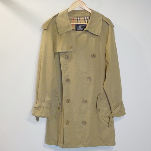 "Vintage Burberrys Trench Coat ""Made in England,100%Cotton,Halls"""