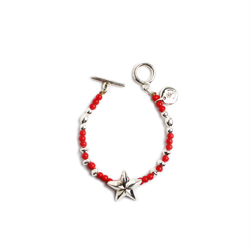 CONSIGLIERE/コンシリエーレ Lucky star beads bracelet/Red-A