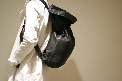 T.A.S / ティーエーエス  2WAY  LEATHER TOTE BAG & BACK PACK(BK)