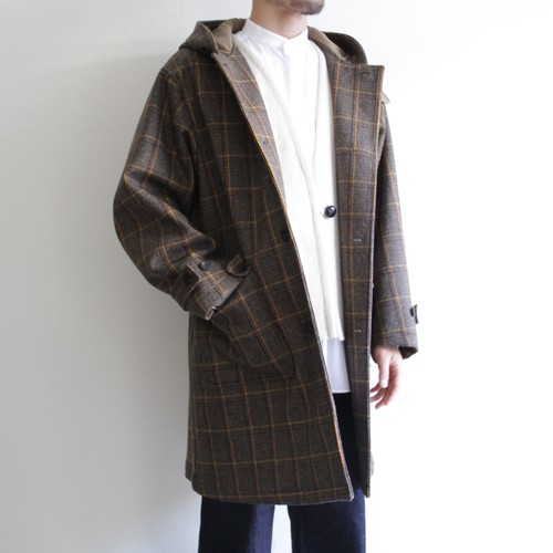 STILL BY HAND【 mens 】check hooded coat