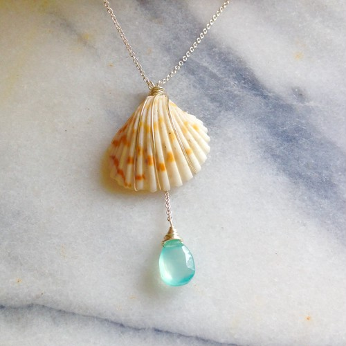 SHELLx Blue Chalcedoney *Silver Necklace