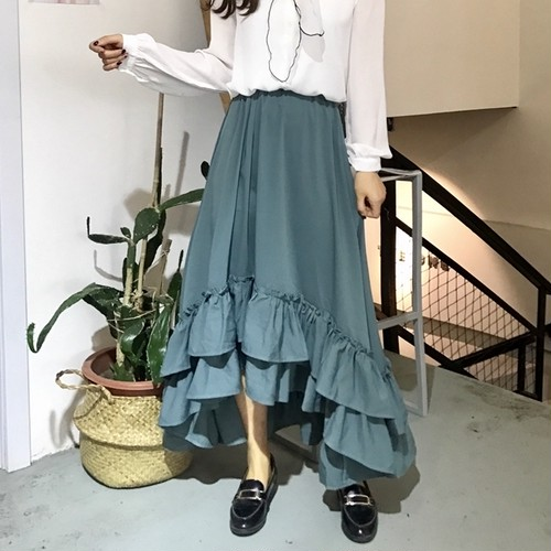 【お取り寄せ商品】☆ Ruffle fish tail skirt 5727