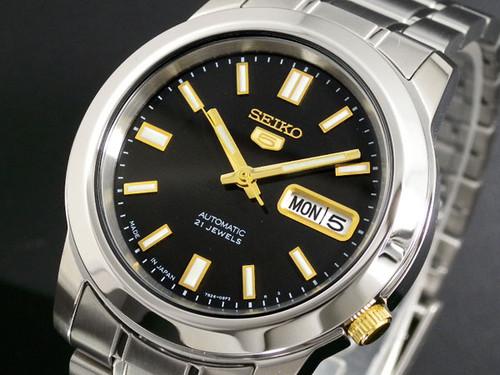 セイコー SEIKO セイコー5 SEIKO 5 自動巻き 日本製 腕時計 SNKK17J1 ブラック