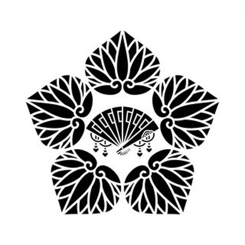 五つ葵に檜扇 aiデータ