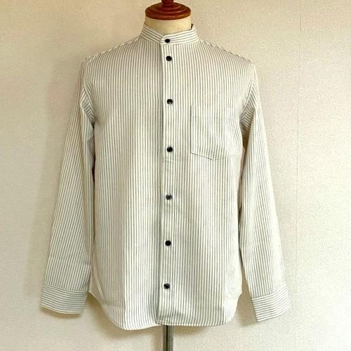 Stand Collar Stripe Shirts White