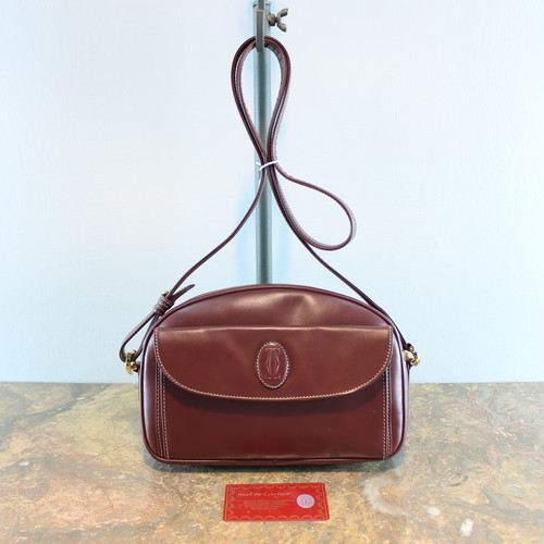 .OLD Cartier MUST LINE LEATHER SHOULDER BAG MADE IN FRANCE/オールドカルティエマストラインレザーショルダーバッグ 2000000035161