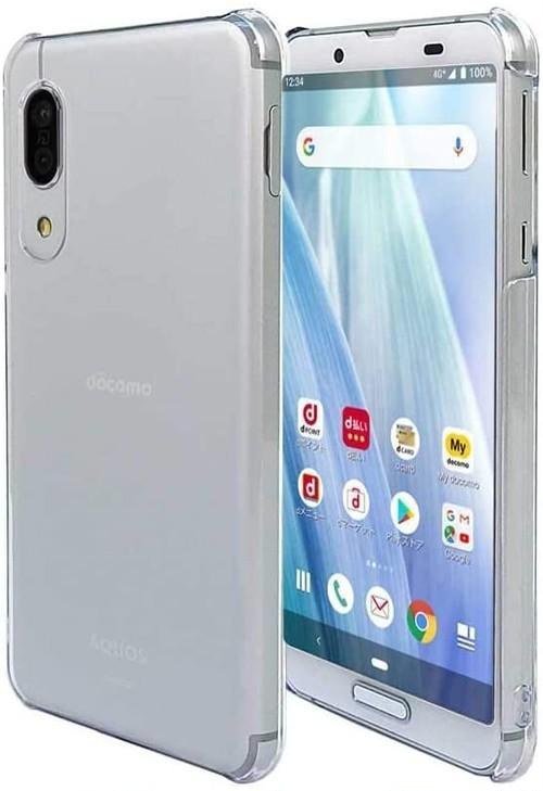 AQUOS sense3 SH-02M SHV45 SH-M12 / AQUOS sense3 lite SH-RM12 / AQUOS sense3 basic SHV48 / Android One S7 スマホケース クリア カバー ハード ストラップホール付
