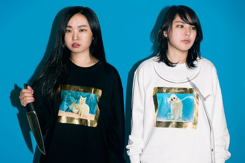 gold framed doggy/kitten sweatshirt ※8月初旬-中旬の配送