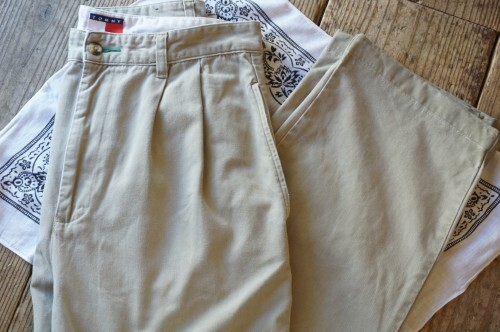 00's TOMMY HILFIGER two-tuck classic chino Pants
