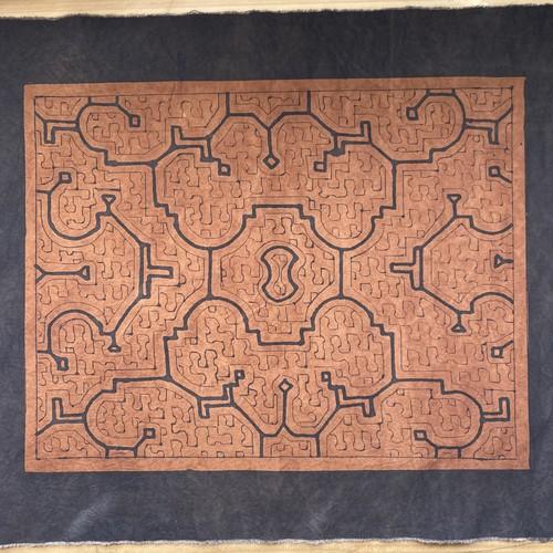 テーブルセンター 41x52cm-6 シピボ族の泥染め インテリア