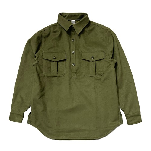 COMFORTABLE REASON / THOROUGHBRED SHIRTS -OLIVE-