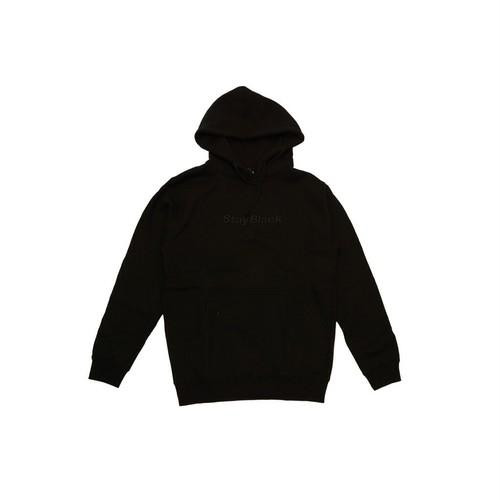 Stay Black Original Logo Hoody - Black/Black